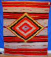 Navajo Blanket -  Circa 1885 Large Transitional Pictorial with Saltillo Influences